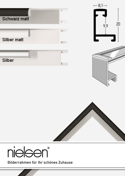 alurahmen profil 22 alubilderrahmen nach ma ma anfertigung. Black Bedroom Furniture Sets. Home Design Ideas