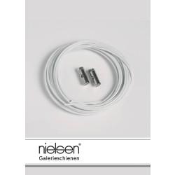 Nielsen Stahlseile weiß mit Schraubgleiter