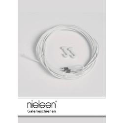 Nielsen Stahlseile weiß mit Schlaufe und Gleithaken