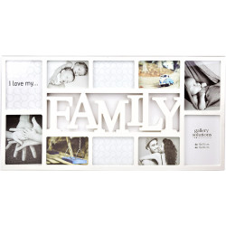 Collage-Rahmen Family 10 weiß
