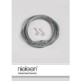 Nielsen Stahlseil mit Schlaufe und Gleithaken