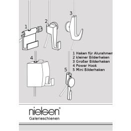 Nielsen Bilderhaken für Galerieleisten