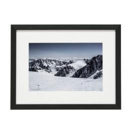Gerahmtes Bild Mountain Nr10 – Kunststoffrahmen Schwarz