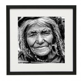 Gerahmtes Bild People Nr21 – Kunststoffrahmen Schwarz