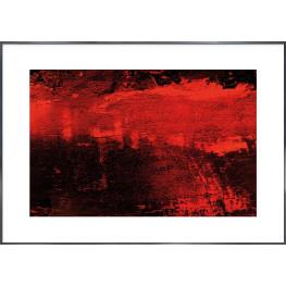 "Nielsen Gerahmtes Bild ""Abstrakt Rot 1"" 118,9 x 84,1 cm"