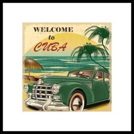 "Nielsen Gerahmtes Bild ""Welcome to Cuba"" 50,0 x 50,0 cm"