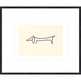 """Nielsen Gerahmtes Bild """"Le chien – Picasso"""" 60,0 x 50,0 cm"""