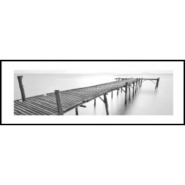 """Nielsen Gerahmtes Bild """"Brücke Schwarz & Weiß"""" 95,0 x 33,0 cm"""
